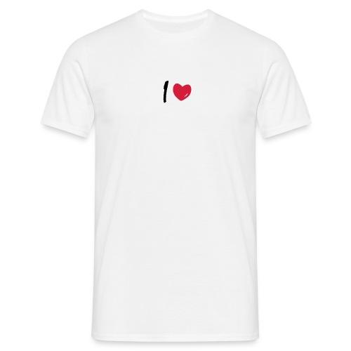 I LOVE - Männer T-Shirt