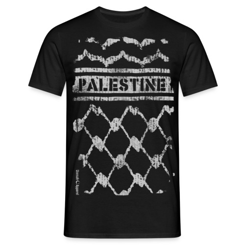 Palestine Keffiyeh white - Men's T-Shirt
