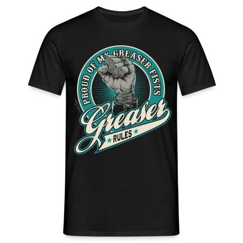 greaser fists unido negra - Camiseta hombre
