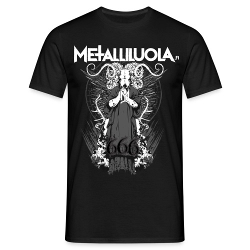 Metalliluola logo ja Demoniac 666 - Miesten t-paita