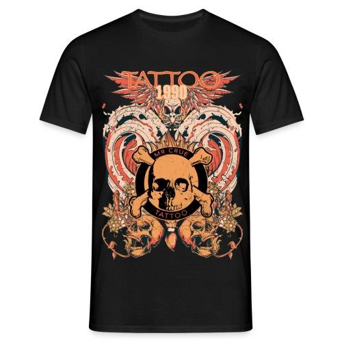 Mr Crue Skull Fire - T-shirt herr