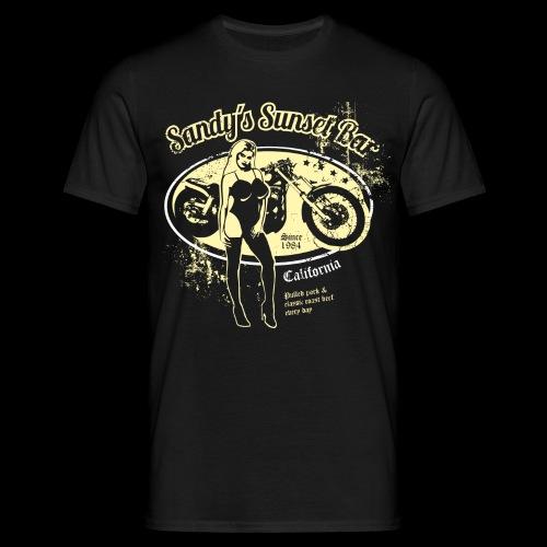 Sandy´s Sunset Bar California - Männer T-Shirt