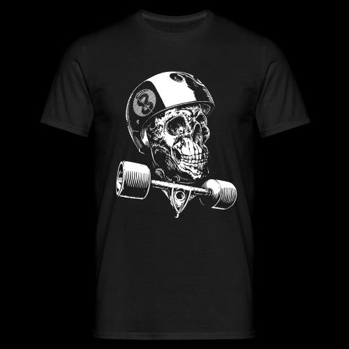 Skull Longboard Rider - negative print - T-shirt Homme