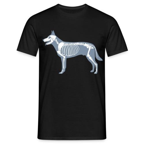 Hond skelet - Mannen T-shirt