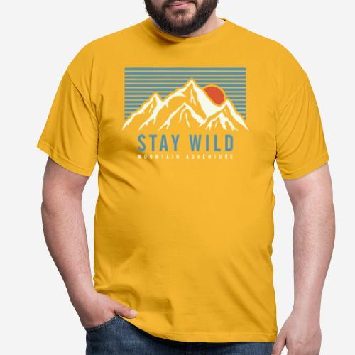 mountain stay wild - Männer T-Shirt