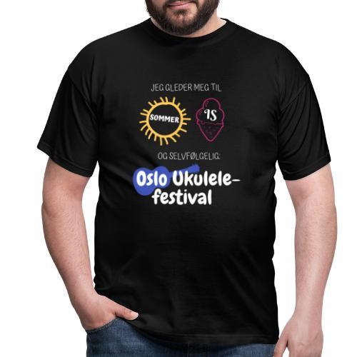 Jeg gleder meg - T-skjorte for menn
