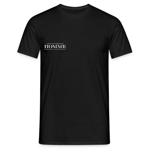 Logo Homme Magazine white ohne Schatten - Männer T-Shirt