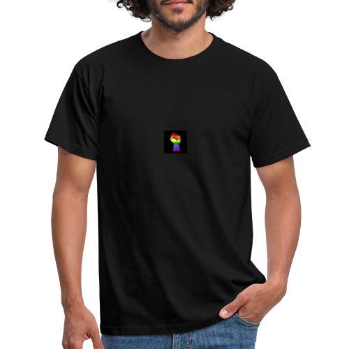 Lgbt Faust Protest schwarzer Hintergrund - Männer T-Shirt