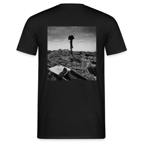 Stop War , Eat Pizza - Männer T-Shirt