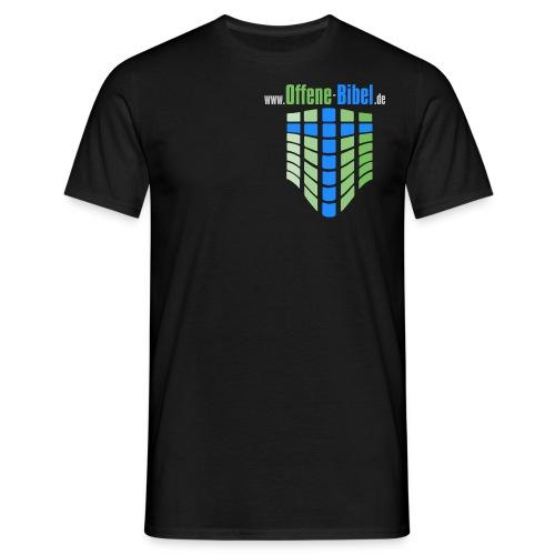 logo mit www fuer schwarzen hintergrund - Männer T-Shirt