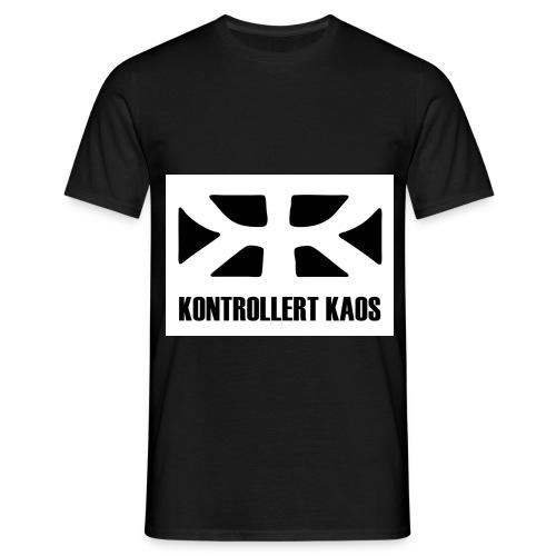 kontrollertkaoslogo1 - T-skjorte for menn