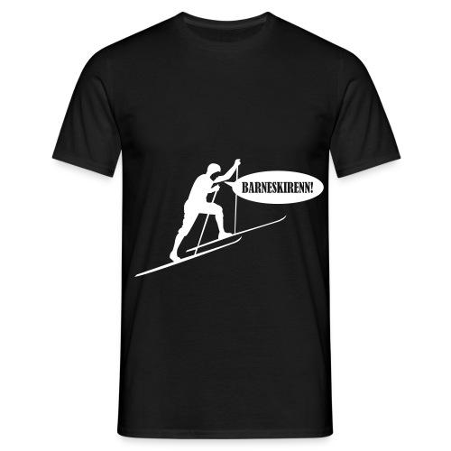 Barneskirenn hvit - T-skjorte for menn