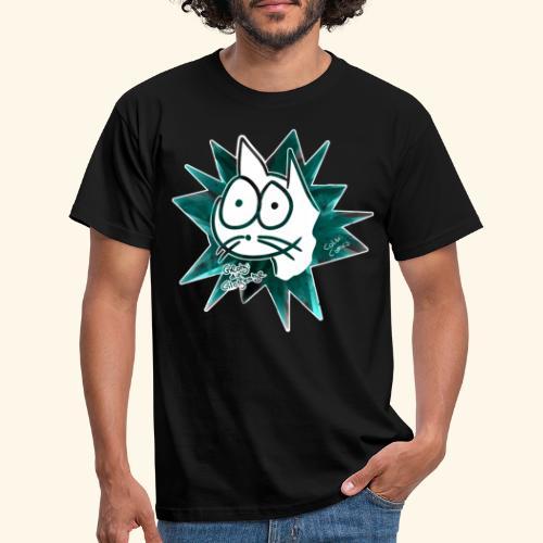 Glotzi Stern Cyan - Männer T-Shirt