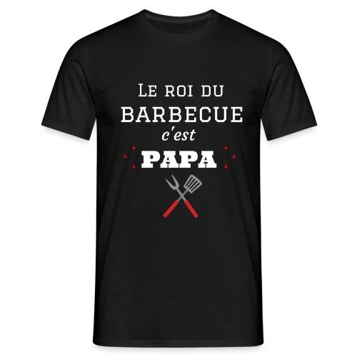 t-shirt fete des pères roi du barbecue c'est papa - T-shirt Homme