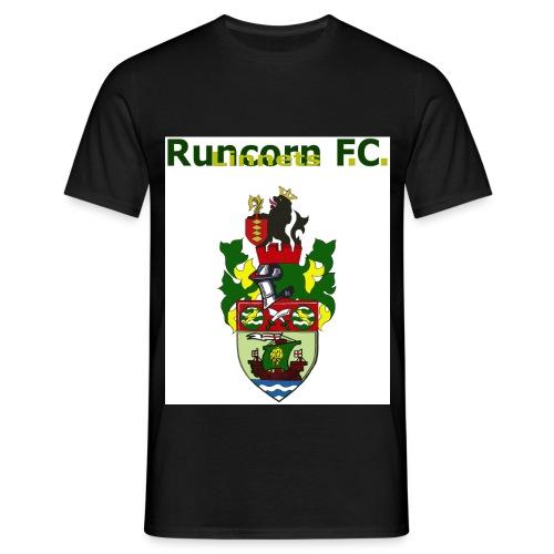 runcorn linnets logo and crest 120dpi - Men's T-Shirt