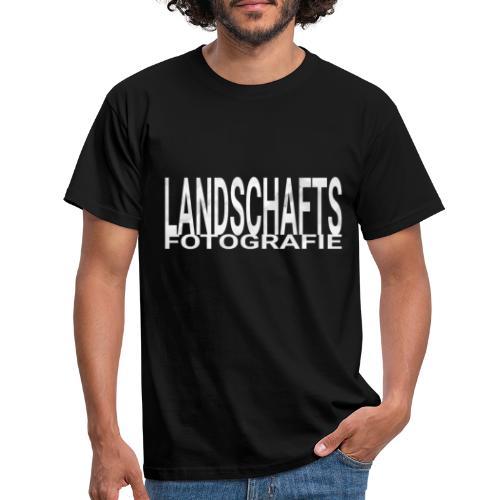 Landschaftsfotografie Wort Text in weiß grau - Männer T-Shirt
