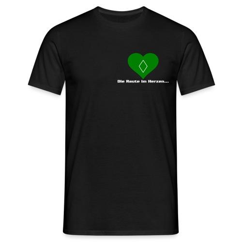 Die Raute im Herzen grün weiß - Männer T-Shirt