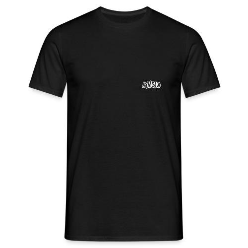Aymsto/Blanc/Petit Logo - T-shirt Homme