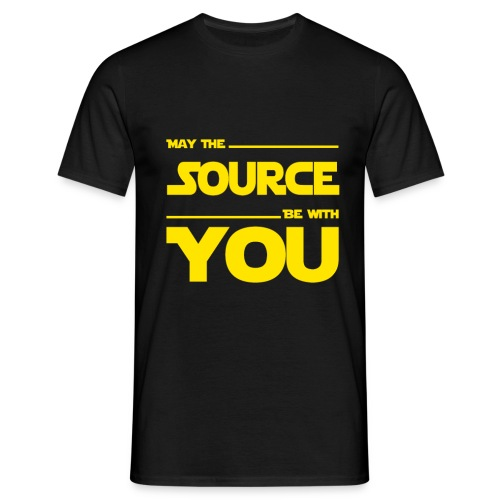 May Source Be With You für Programmierer - Men's T-Shirt