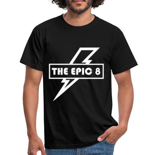 The Epic 8 - valkoinen logo - Miesten t-paita