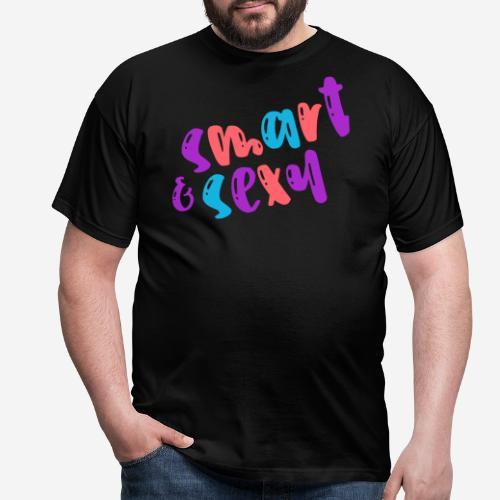 smart clever niedlich nett - Männer T-Shirt