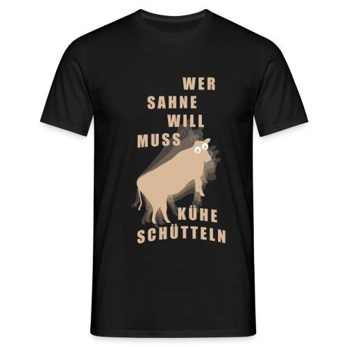 Sahne - Männer T-Shirt