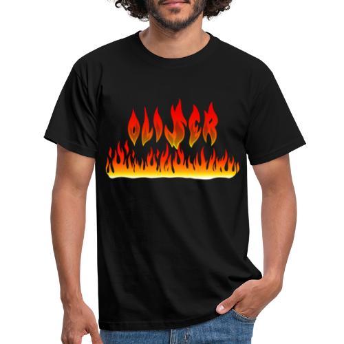 Oliser-Flames - Maglietta da uomo