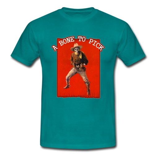 Vintage Skeleton Outlaw Cowboy - Men's T-Shirt