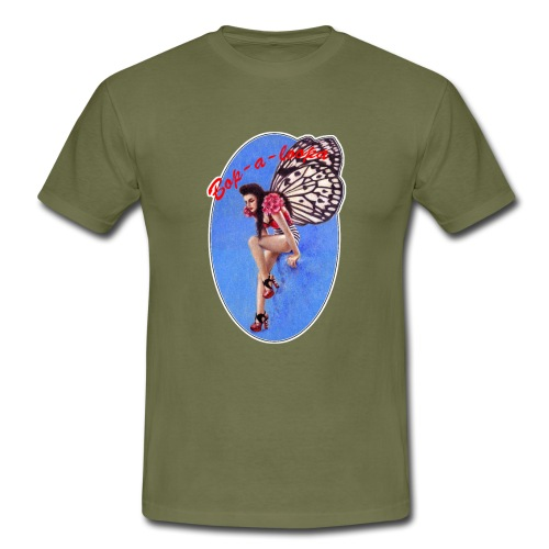 Vintage Rockabilly Butterfly Pin-up Design - Men's T-Shirt