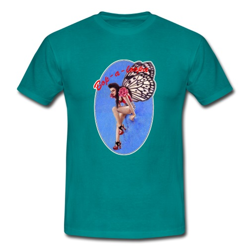 Vintage Rockabilly Butterfly Pin-up Design - Men's T-Shirt