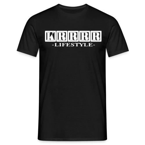Krrrr lifestyle weiß - Männer T-Shirt