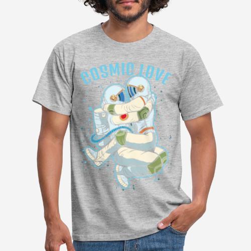 kosmische Liebe Astronautenraum - Männer T-Shirt