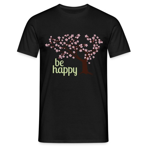 Be happy - Männer T-Shirt