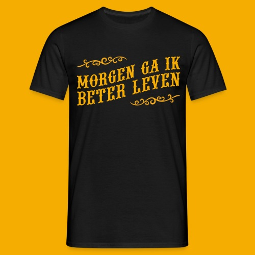 tshirt yllw 01 - Mannen T-shirt