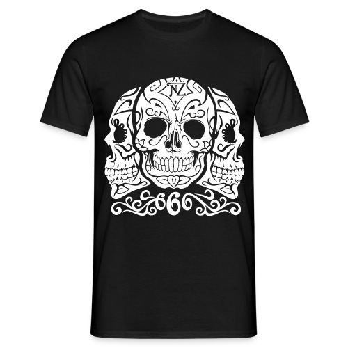 Skull Dia de los muertos - T-shirt Homme