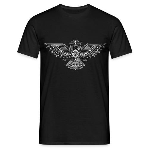 grafische uil wit - Mannen T-shirt