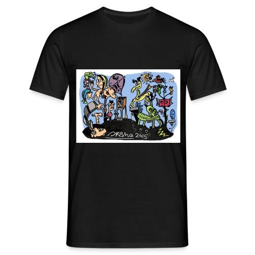 DOODLECOLOUR jpg - Men's T-Shirt