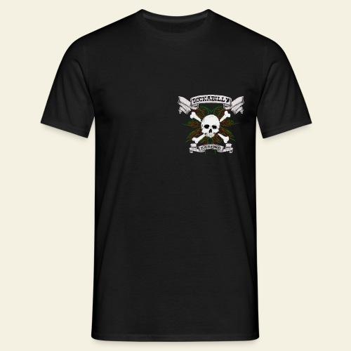 Rockabilly Raredog Skull - Herre-T-shirt