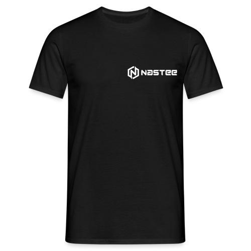 NASTEE logo Weiss - Männer T-Shirt