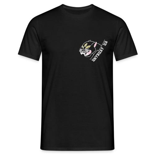 UNTRUST US Frontprint Panther Schwarz - Männer T-Shirt