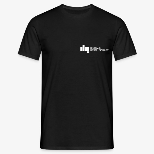 DigiGes Logo Weiß - Männer T-Shirt
