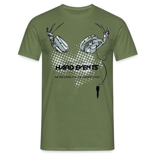dj t shirt template hardevents png - Männer T-Shirt