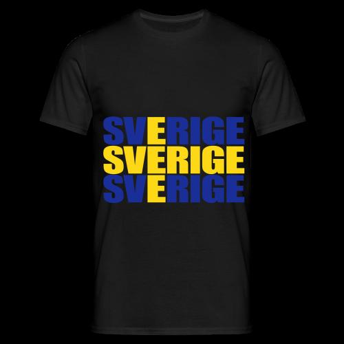 SVERIGE flaggtext - T-shirt herr