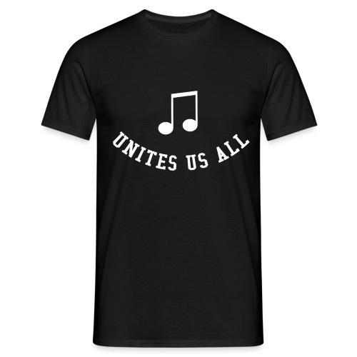Music Unites Us All Shirt - Men's T-Shirt