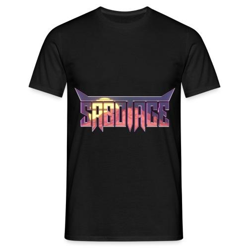 Synthwave Logo - Mannen T-shirt