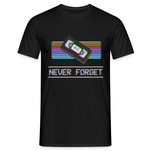 Never Forget VHS VCR Tape Retro Vintage 80s 90s - Herre-T-shirt