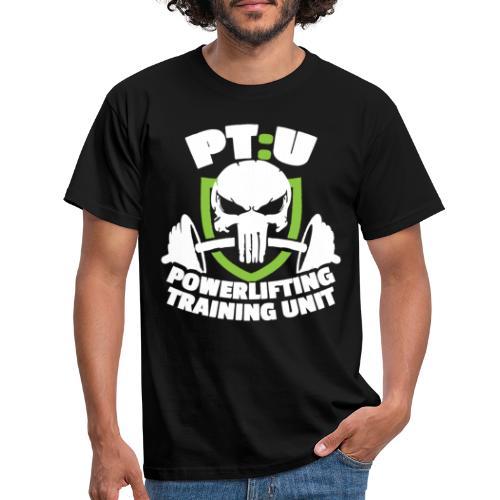 POWERLIFTING WHITE LOGO - Men's T-Shirt