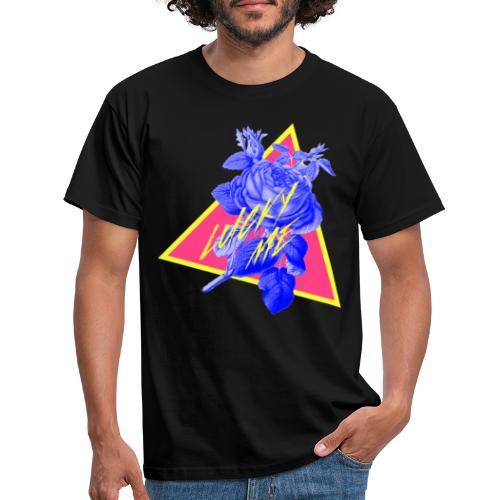 flores neon - Camiseta hombre