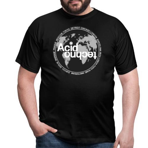 acid techno world - Koszulka męska