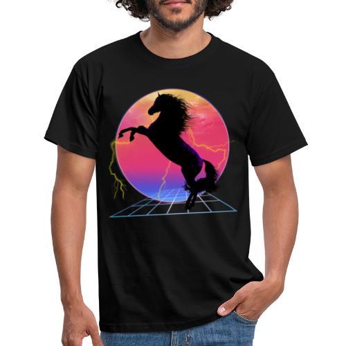 retro rearing horse - Camiseta hombre